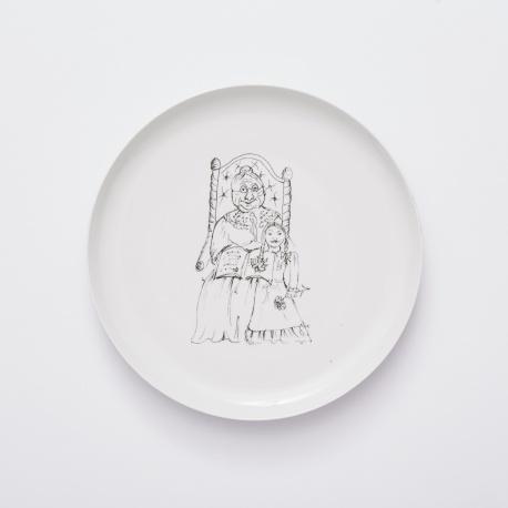 Dagmar 2, kolekce Prvni navsteva vopere – velky talir 30 cm